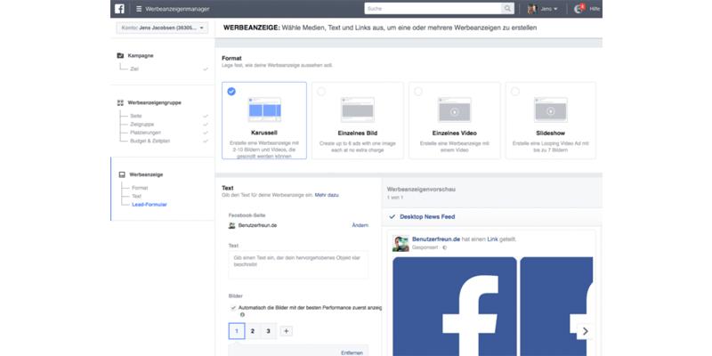 Facebook Ads für mehr Leads