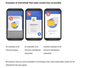 Screenshot Google Webmasters Popups