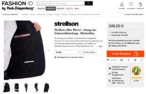 Screenshot Produktdetails FashionID Bildauswahl