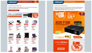 Screenshot Newsletter Cyberport