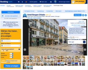 Screenshot Booking.com Bildauswahl