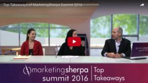 Screenshot Video Marketing Sherpa Summit 2016
