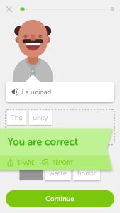 Screenshot Duolingo - Symbolbild für Automatisierung