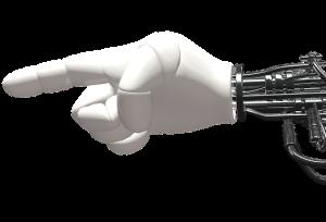 Roboterhand Illustration Symbolbild für Automatisierung