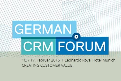Inspiration und Praxis pur: das German CRM Forum 2016 in München
