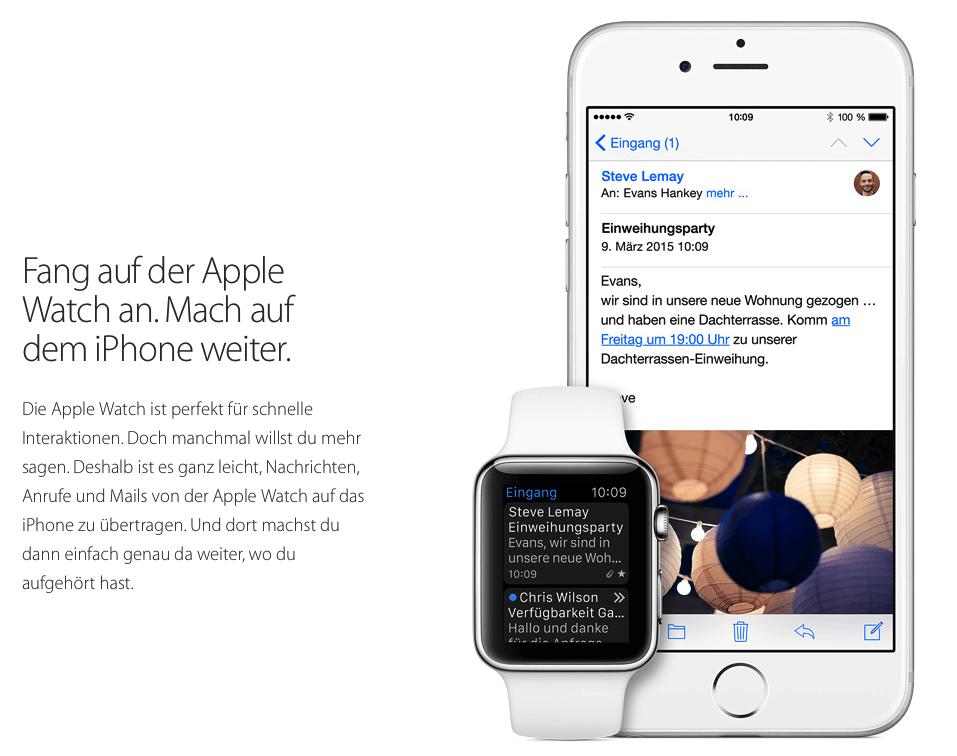 Mails für die Apple Watch schreiben
