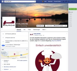 Screen Evalanche auf Facebook Mit sozialen Medien zu mehr Abonnenten