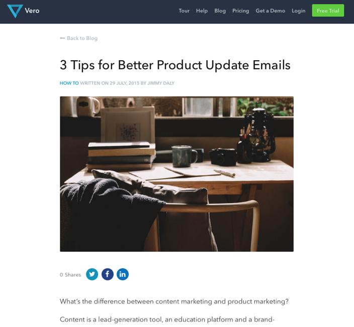 Produkt-Update-Mails für begeisterte Kunden