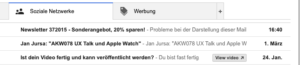 Screenshot Gmail Preheader