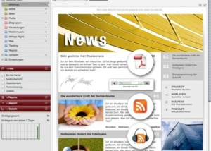 Funktion Newsletter vorlesen lassen