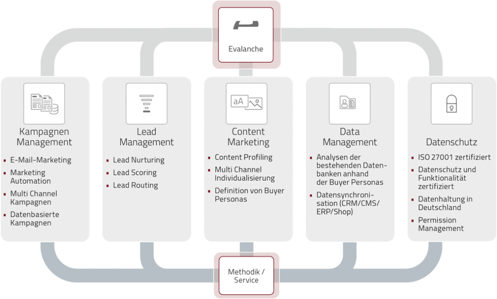 Lead Management Prozesses in der Email Marketing Software Evalanche