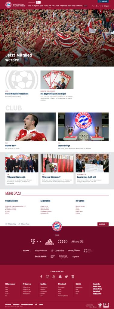 Screenshot Seite Mitglied werden FC Bayern