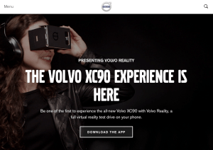 Screenshot Volvo VR-App