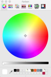Farbrad von MacOS