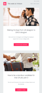 Screenshot Newsletter Invision