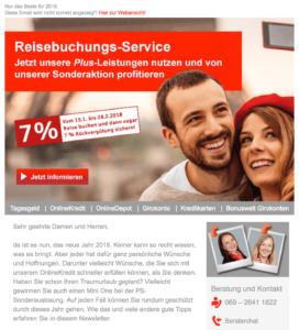 Beispiel Newsletter Frankfurter Sparkasse