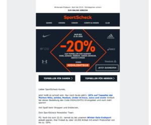 Beispiel Newsletter Sport Scheck