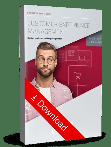 """Jetzt unser Smart Book zum Thema """"Customer Experience Management"""" gratis herunterladen"""