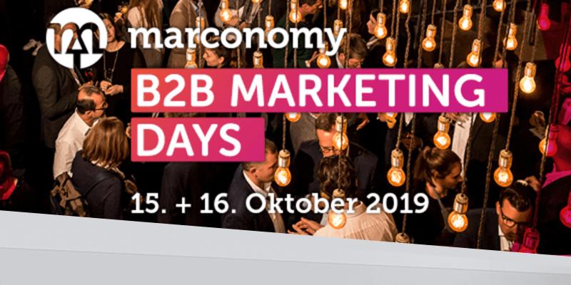b2b marketing days 2019 by marconomy