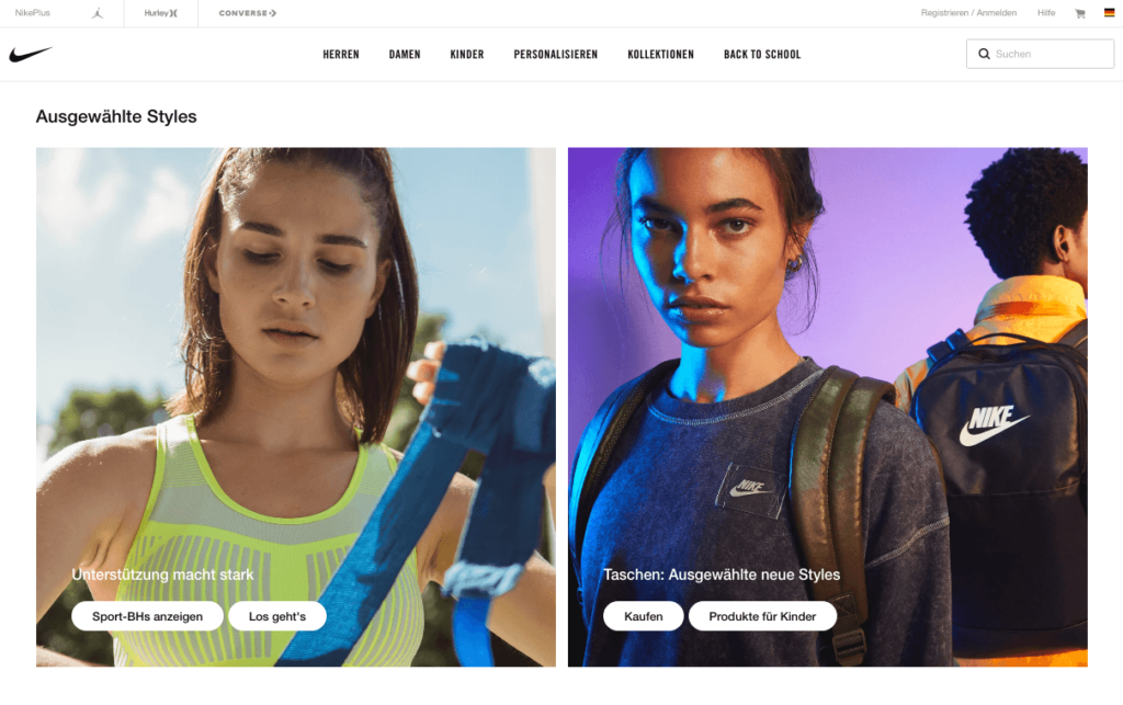 Website Design Trend Minimalismus