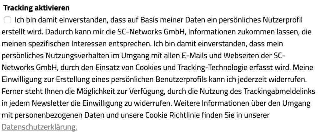 EuGH Cookie Urteil Tracking aktivieren in Evalanche