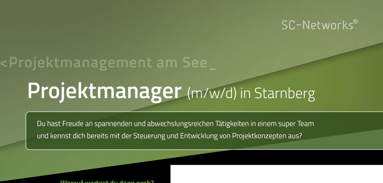 Stellenanzeige Projektmanager m/w/d